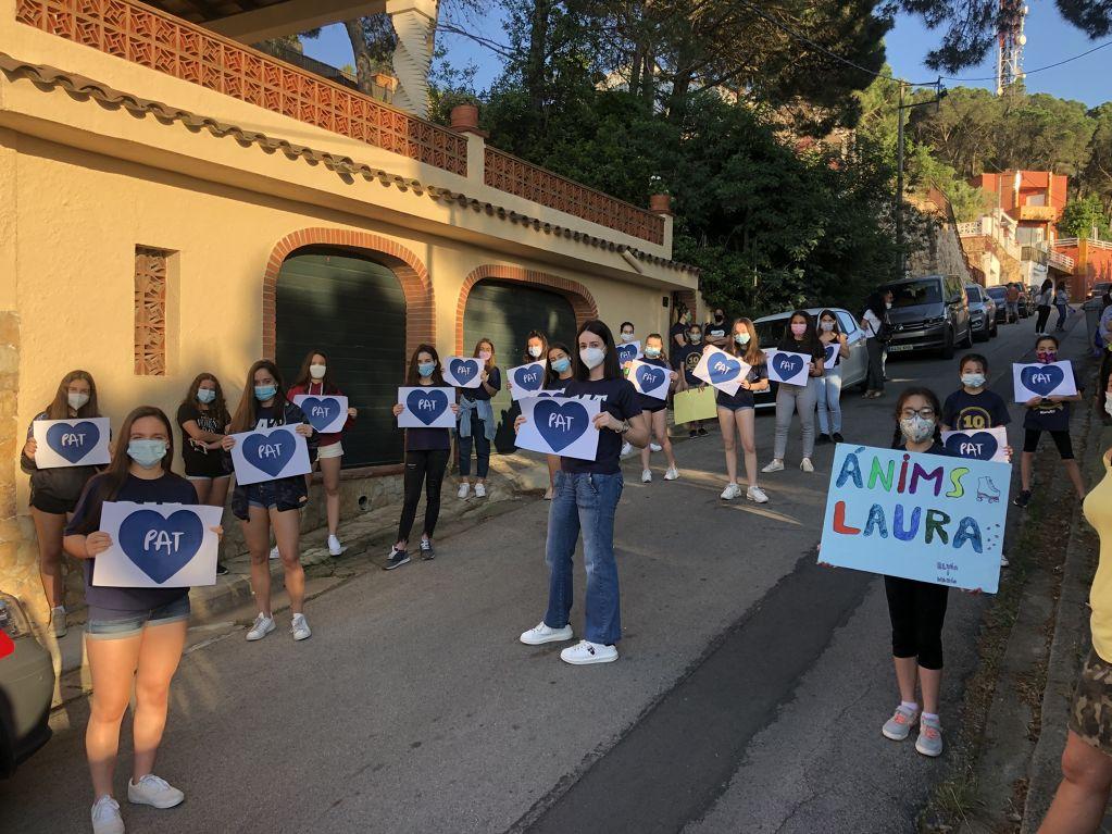 PA Tordera en el acto solidario por Laura Castells