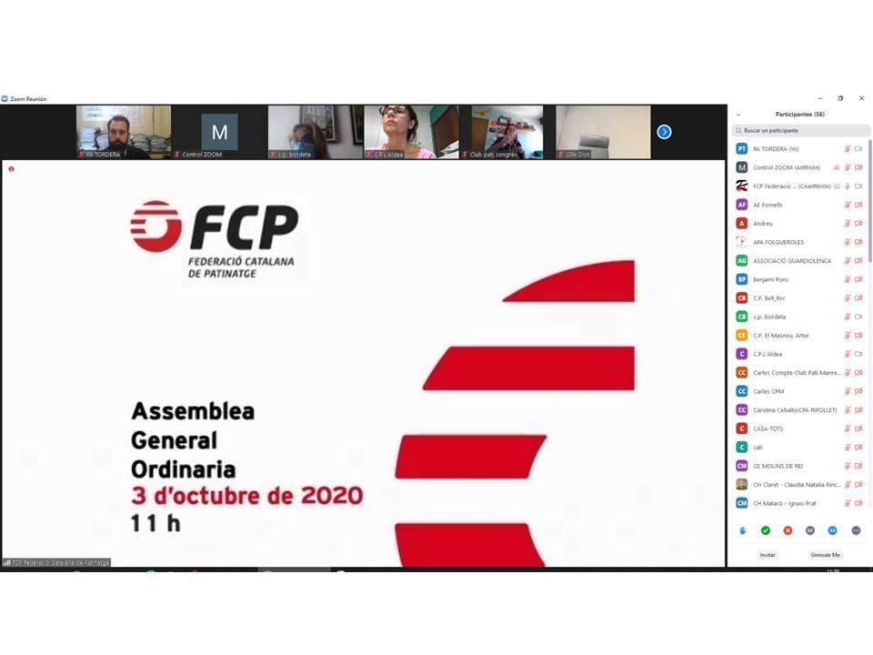 PA Tordera en la primera Asamblea General (FECAPA) telemática de la historia