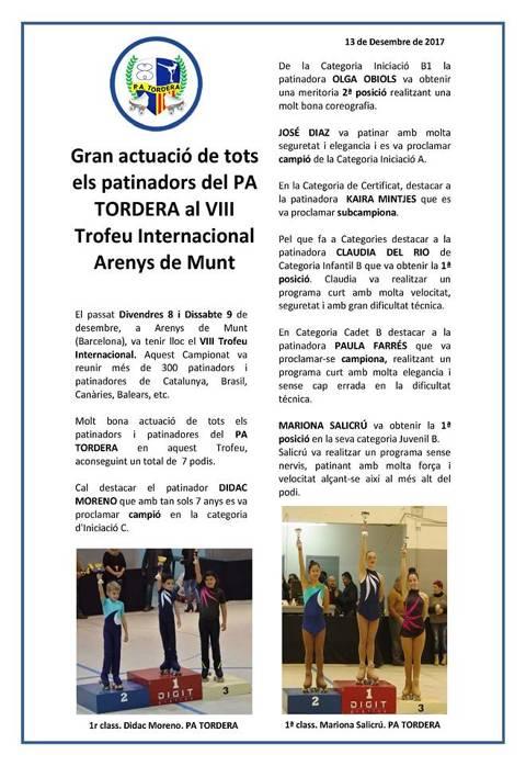 VIII TROFEO INTERNACIONAL ARENYS DE MUNT